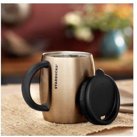 starbucks stainless steel desktop mug bronze  fl oz
