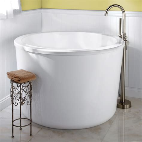 soaking tub small 47 quot caruso japanese soaking tub overflow no