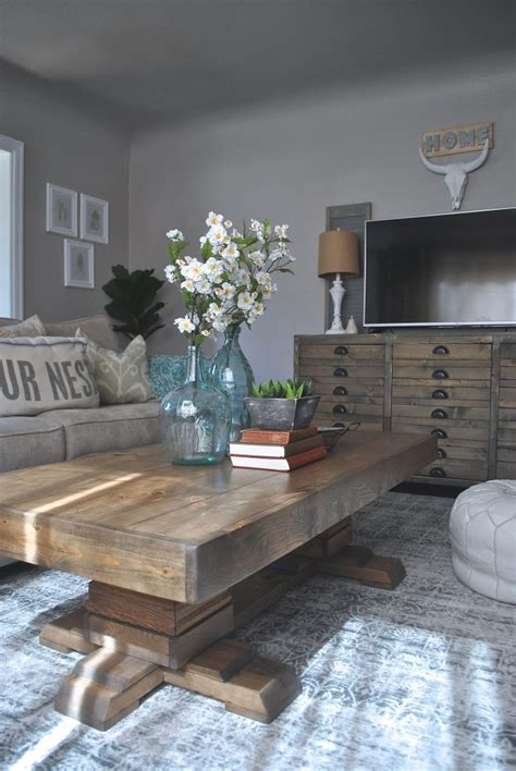 shanty 2 chic coffee table build an easy pedestal coffee table shanty 2 chic