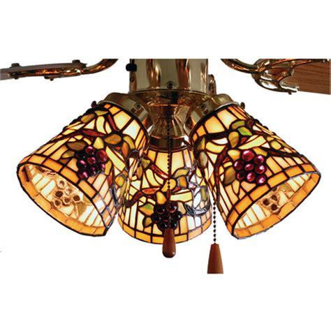 fan light shades meyda 67013 jeweled grape fan light shade