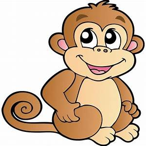 Funny Baby Monkeys Cartoon Clip Art Images On A ...