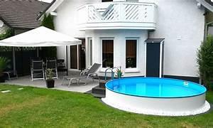 Kleiner Pool Für Terrasse : die besten 25 garten pool ideen auf pinterest au enpool pool terrasse und gartenteich bauen ~ Orissabook.com Haus und Dekorationen