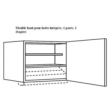 meuble haut pour hotte tiroir ou groupe filtrant