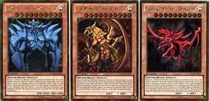 Set of Egyptian God Cards (Obelisk, Ra, Slifer) - Gold ...