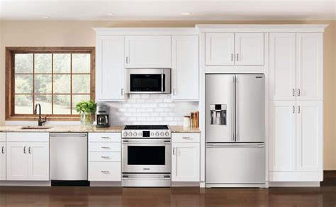 White Cupboards With Stainless Steel Appliances a guide to appliance finish options warners stellian