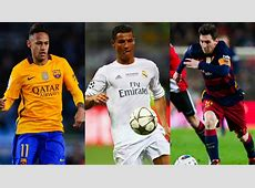 Neymar Ronaldo Messi Goalcom