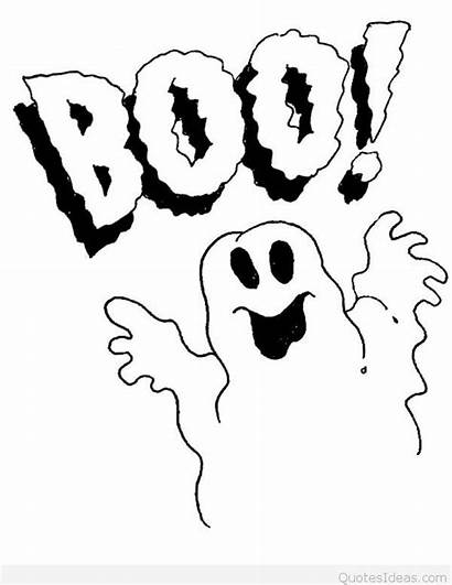 Boo Ghost Halloween Clipart Coloring Pages Ghosts