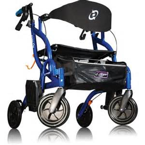 airgo 174 fusion side folding rollator transport chair
