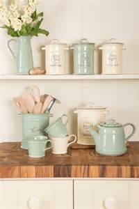 designer kitchen canisters vintage enamelware with a twist kitchen sourcebook