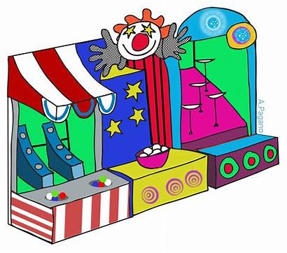 Carnival Clipart Booth Clip Cliparts Games Cartoon