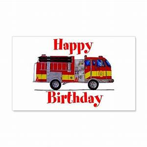 fire truck happy birthday wall decal by markmoore With awesome fire truck wall decals