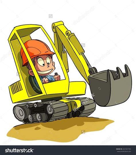 Cartoon Excavator Clip Art