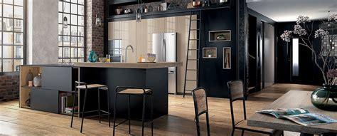 modele de cuisine avec ilot central cuisine moderne îlot type loft ambiance factory mobalpa