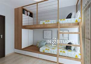 bunk beds are great ways to add more space to a room With double decker bed design photo