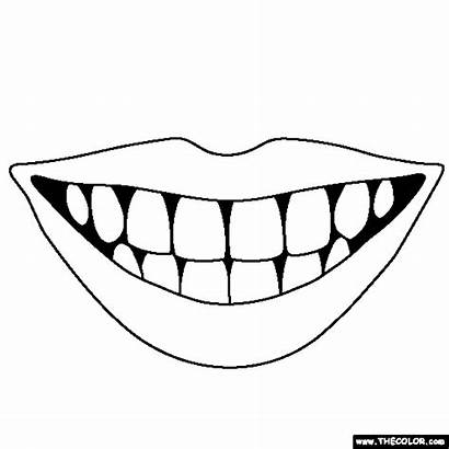 Teeth Coloring Pages Mouth Lips Thecolor Cartoon