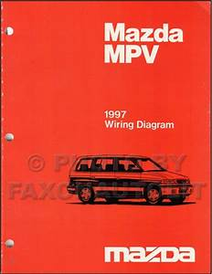 1997 Mazda Mpv Repair Shop Manual Original