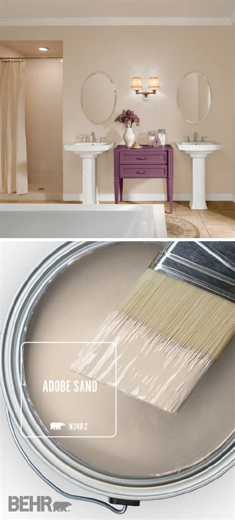 the behr 174 paint color of the month is adobe sand a light shade of beige this neutral hue can
