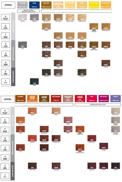 Shades Hair Chart by Redken Shades Eq Color Gloss Color Chart Hair