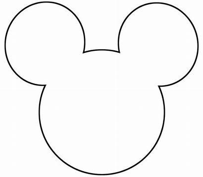 Mickey Mouse Silhouette Template Minnie Printable Stencil