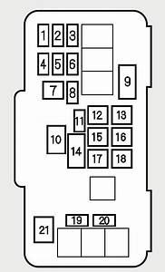 Honda Accord  2001  - Fuse Box Diagram