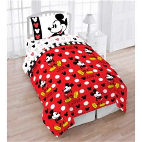 disney mickey mouse twin 4pc bedding set comforter sheet
