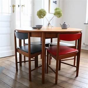 Tables Rondes Extensibles : table ronde extensible et chaises int gr es la maison bruxelloise ~ Teatrodelosmanantiales.com Idées de Décoration