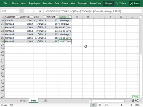 pivot table in excel 2016 making aging analysis reports using excel pivot tables