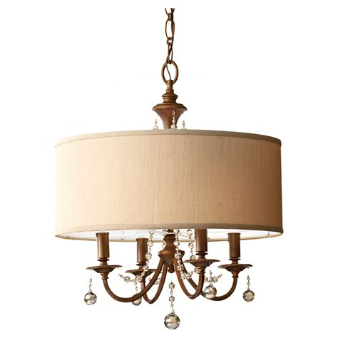 drum chandeliers clarissa drum shade chandelier by feiss f2727 4fg