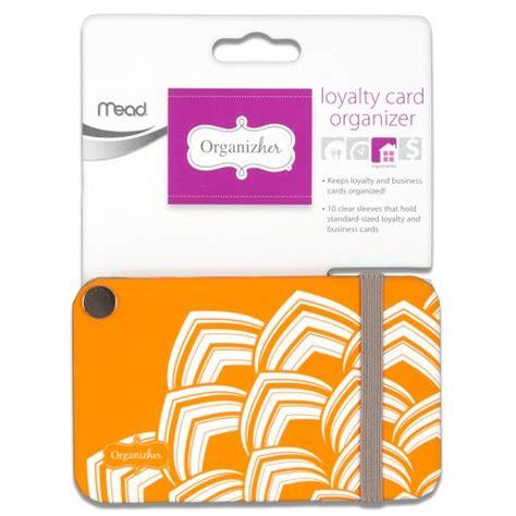38 inch card mead organizher loyalty card organizher 20 cards 3 38 x