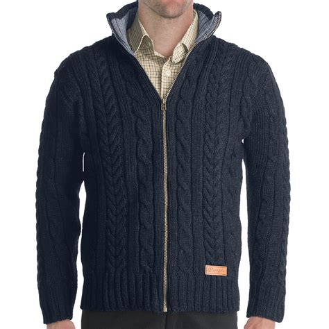 zip sweater mens zip wool cable sweater sweater jacket