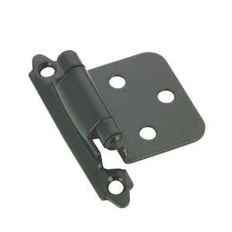 self closing cabinet hinges home depot richelieu hardware 70 mm black cabinet self closing hinge