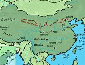 Great Wall China On Map