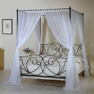 Vorhang über Bett : metall himmelbett z b in 140x200 cm wei vila nova ~ Markanthonyermac.com Haus und Dekorationen