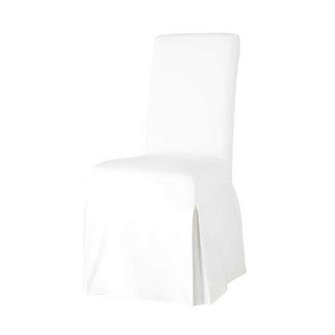 housse de chaise en coton ivoire margaux maisons du monde