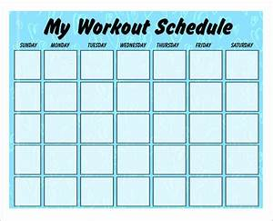 4 workout schedule templates for Fitness plan template weekly