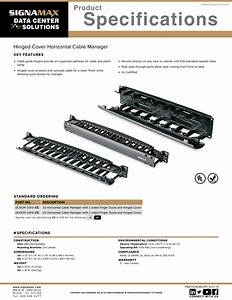 Signamax Hinged Cover Horizontal Cable Manager