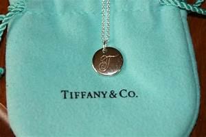 "New Box Tiffany & Co Notes ""t"" Alphabet Disc Charm Pendant"