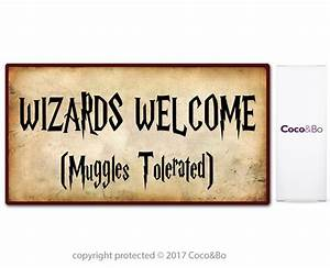 Coco&Bo 1 x Welcome Wizards Muggles Party Sign - Harry