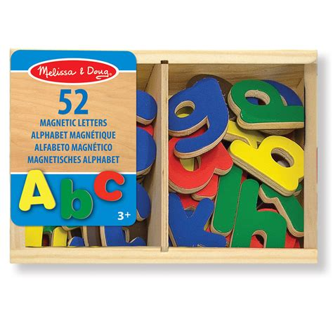 Melissa Doug 52 Wooden Letter Magnets 10448