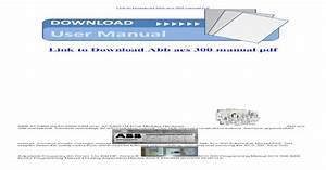 Abb Acs 300 Manual Pdf