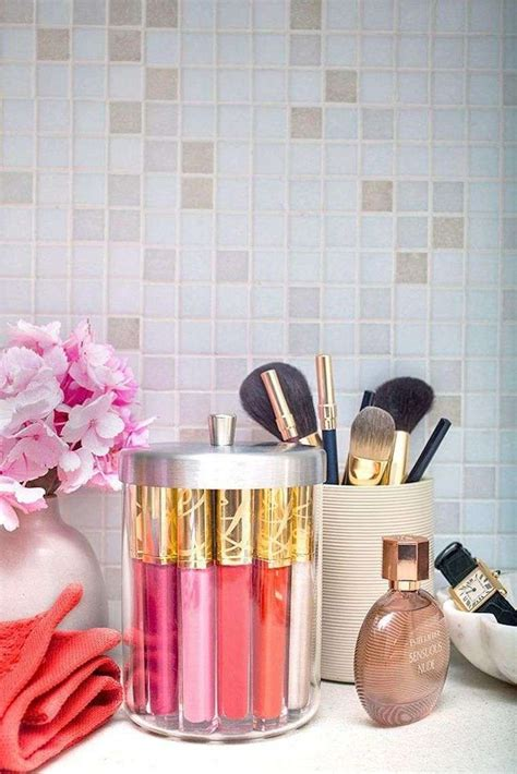 astuce rangement maquillage salle de bain diy rangement chambre pour articles de mode et de beaut 233