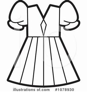 Dress Clipart #1078930 - Illustration by Lal Perera