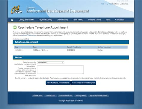 edd ca phone number ui mobile view appointments