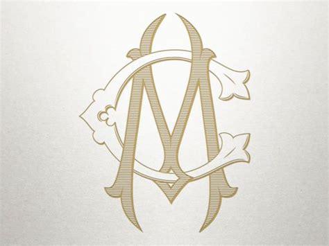 vintage digital monogram cm mc digital monogram interlocking mc logo monogram design