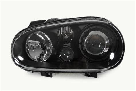 vw golf gti mk4 black glass lens ellipsoid headls