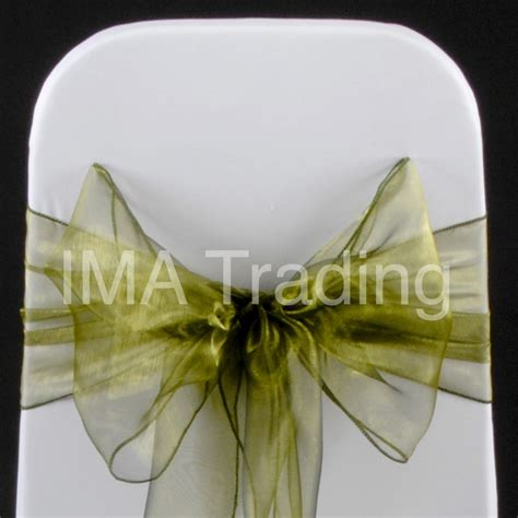 olive green organza sashes bow 18cm