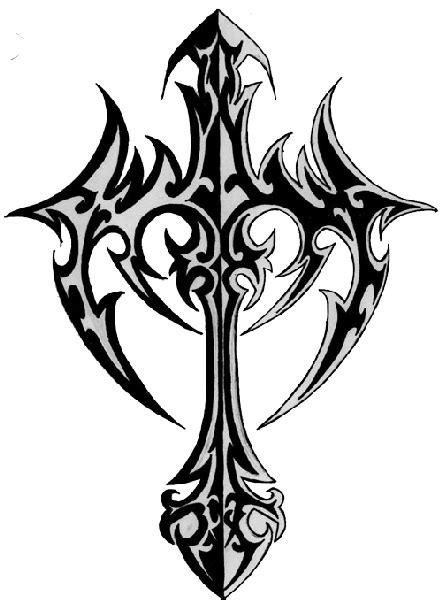 Skull halo tattoo designs, tribal cross tattoo designs and
