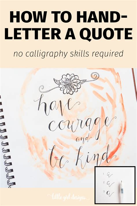 faux hand letter  quote  girl designs