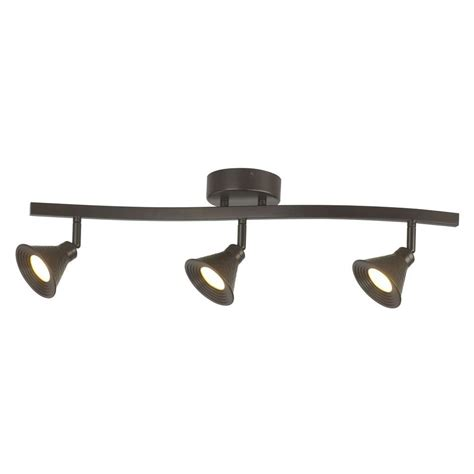 hton bay 3 light led hammered shade directional track
