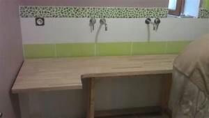Plan De Travail Salle De Bain : parquet et pose plan de travail salle ~ Premium-room.com Idées de Décoration